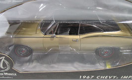 1967 Chevy Impala Granada Gold with Vinyl Top CHASE CAR 1/18