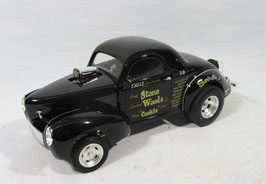 1941 Willys Stone Woods & Cook Black Gasser 1/18