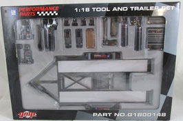 1/18 scale Car Hauling Trailer & Tool Set GM GMP