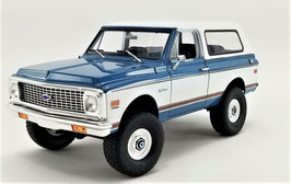 1972 Chevy Blazer K/5 Blue with Large Tires 1/18 Acme