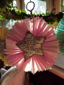 *worship star* handgefertigter Gesangbuchstern, rosa