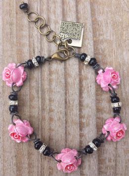 5Rosen / 3Rosen Rosenarmband & Rosenkette - Modeschmuck mit handcolorierten Resinrosen