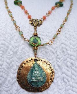 Buddha-Unikat Halskette *SAMSARA*, vergoldet