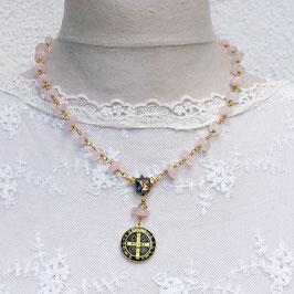 Schutzkette *Benedictus rose quartz*
