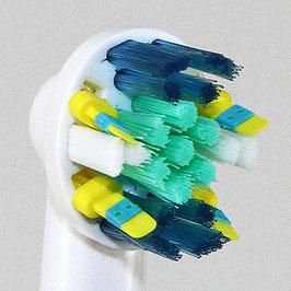 4 Aufsteckbürsten (ähnlich wie Oral-B Floss Action / Tiefenreinigung)