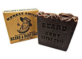 Beard and Body Soap Honest Amish extra grit (für dunkle Bärte)