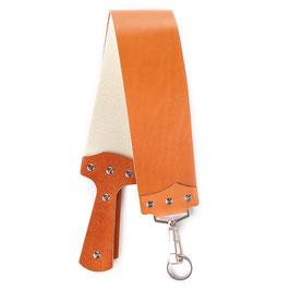 Leder Streichriemen für Rasiermesser hellbraun