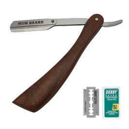 Rasiermesser Shavette Holz (plus 1 Pack Klingen können vom Bild abweichen)