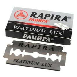 2 x 5 Rasierklingen Rapira Swedish Supersteel und Platinum Lux (Wolga Probierset)