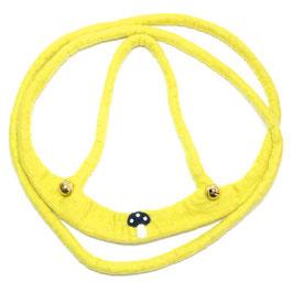 Pferdeleine handgefilzt, gelb mit Pilz PF6116