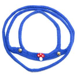Pferdeleine handgefilzt, blau mit Pilz PF6506