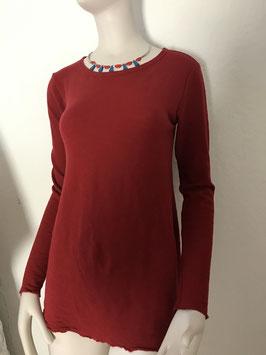 BLUSBAR Shirt A-Linie mit Rundhalsausschnitt  in Merinowolle