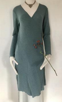 blusbar körpernahe lange Wickeljacke/Wickelkleid  in Merinowolle