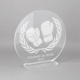 Trophée sportif boxe