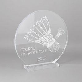 Trophée sportif badminton