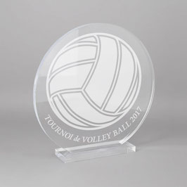 Trophée sportif volley ball