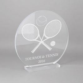 Trophée sportif tennis