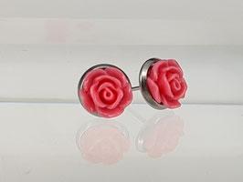 8mm Rosen Ohrringe