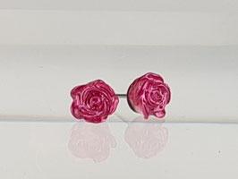 4mm Rosen Ohrringe Pink
