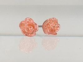4mm Rosen Ohrringe peach