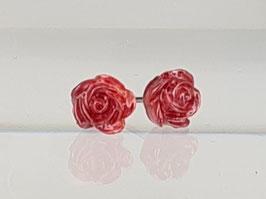 4mm Rosen Ohrringe