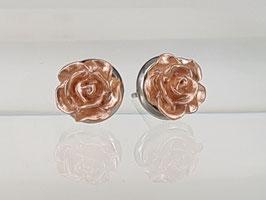 8mm Rosen Ohrringe Rosegold shine