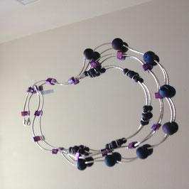 3-Strang Kette violett
