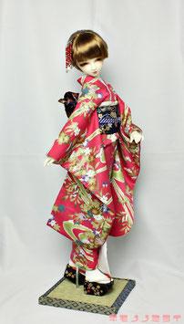 豪華金彩友禅 濃ピンク 振袖セット K.012fs
