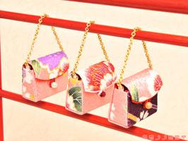 1/6和装バッグ 箱 金彩 ピンク