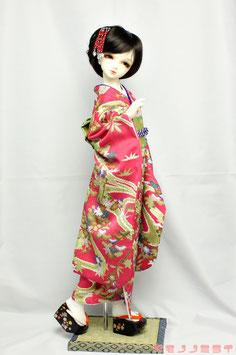 豪華金彩友禅  濃いピンク 振袖セット K.017fs