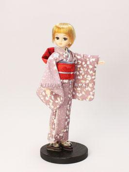 ピンク 桜切り嵌め小振袖 S.038ns