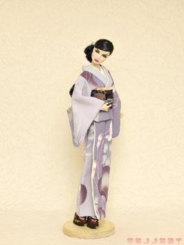 紫 撫子 着物セット LL.005ks