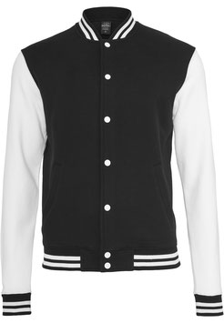 2-tone College Sweatjacket, White