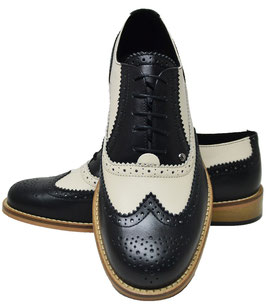 Gatsby Brogue, Navy/Bege