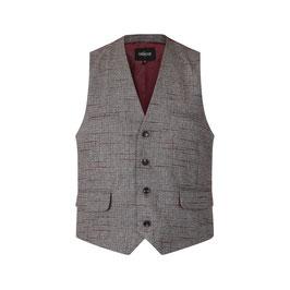 Max Crosshatch Waistcoat, Grey