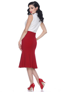 Mermaid Skirt Ruby Red