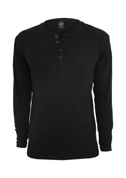 Basic Henley Tee, Black