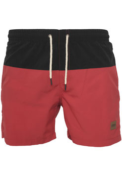Block Swim Shorts, Black/Red