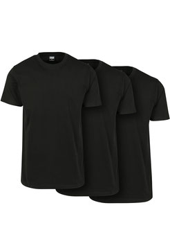 Basic Tee 3er-Pack, Black