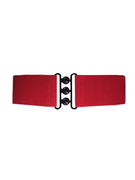 Nessa Cinch Belt, Red