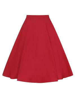 Matilde Classic Cotton Swing Skirt, Red