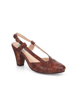 Elena Snakeskin Heel, Brown