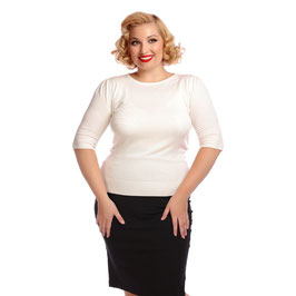 Chrissie Plain Knitted Top, Ivory