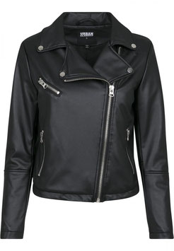 Ladies Faux Leather Biker Jacket