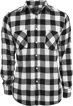 Checked Flanell Shirt Black/White, Men