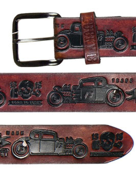 The Coupe 13 Belt, Antiqued Brown