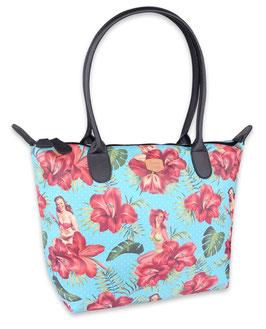 Hula Girl Blue Shoulder-Bag
