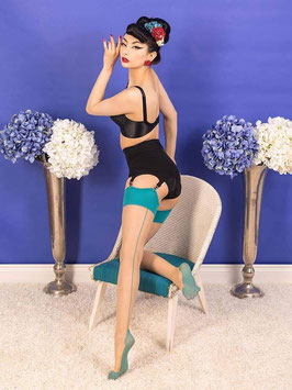 Seamed Stockings Teal