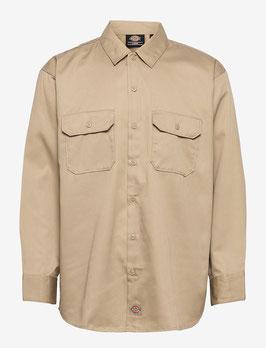 Original Fit Longsleeve Workshirt, Khaki
