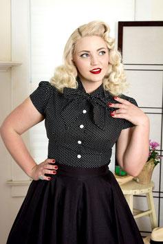 Estelle Blouse Polka Dot Black